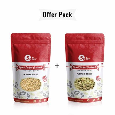 Quinoa Seeds, 250gm + Pumpkin Seeds, 250gm Recipes